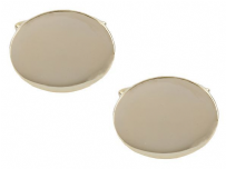 Dalaco 90-7021 Oval Large Plain Gold Plated Cufflinks